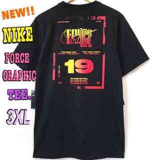 ナイキ(NIKE)のグラデーション☆ NIKE FORCE GRAPHIC Tシャツ 黒 3XL(Tシャツ/カットソー(半袖/袖なし))