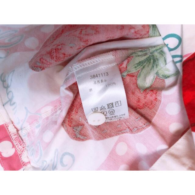 Shirley Temple(シャーリーテンプル)のShirley Temple♡いちごjsk キッズ/ベビー/マタニティのキッズ服女の子用(90cm~)(ワンピース)の商品写真