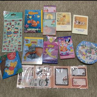 ディズニー(Disney)のディズニー メモ帳 シール ふせん まとめ売り セット販売(ノート/メモ帳/ふせん)