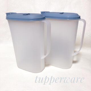 タッパーウェア ピッチャー ドリンクボトル 麦茶ポット 新品未使用 取手付き(容器)