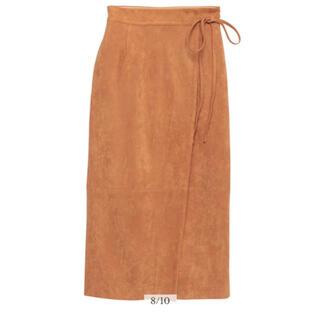 ノーブル(Noble)のanuans フェイクスエードラップタイトスカート(ひざ丈スカート)
