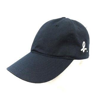 agnes b. - アニエスベー agnes b. 帽子 キャップ カーブバイザー ロゴ Tu 紺