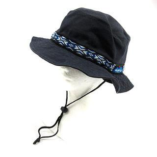 カブー(KAVU)のカブー 帽子 ストラップバケットハット キャンバス 紺(その他)