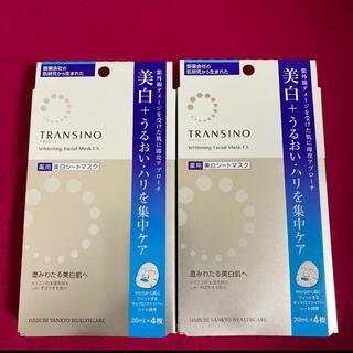 トランシーノ(TRANSINO)のトランシーノ 薬用ホワイトニング 美白シートマスク パック 4枚入り×2箱(パック/フェイスマスク)