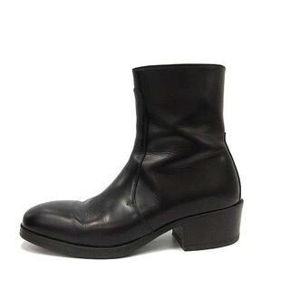 ルメール(LEMAIRE)のルメール 20AW zipped ブーツ ショート スクエアトゥ 41 黒(ブーツ)