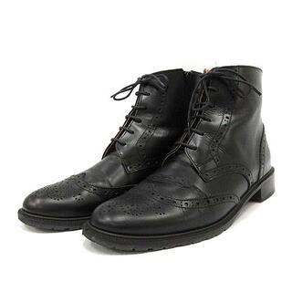 オデットエオディール(Odette e Odile)のオデットエオディール ブーツ ショート ローヒール 23.5cm 黒(ブーツ)