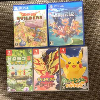 Nintendo Switch - Switch PS4 ソフト5本まとめ ポケモン・ピクミン・ドラクエなど