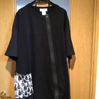 ヨーカン(YOKANG)の猫柄 ビッグシルエット チュニック Tシャツ 沖縄デザイナー(Tシャツ(半袖/袖なし))