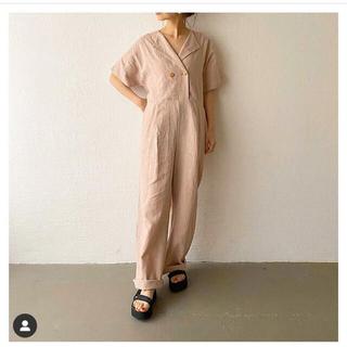 HOYDY linen allinone pink(オールインワン)