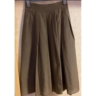 アナイ(ANAYI)のANAYI ロングスカート フレアスカート アナイ スカート カーキ(ひざ丈スカート)