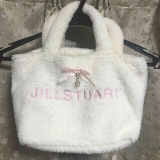 JILLSTUART - ジルスチュアート/ロゴチャーム付ミニトートバッグ/ガーリー/ロリータ/ホワイト