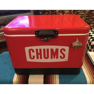 CHUMS - チャムス(CHUMS) スチールクーラーボックス レッド 54L