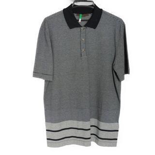 ルイヴィトン(LOUIS VUITTON)のLOUIS VUITTON ポロシャツ 半袖シャツ LVロゴボタン ハーフボタン(シャツ)