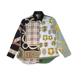 BURBERRY - バーバリー BURBERRY アーカイブスカーフシャツ 18AW 長袖【中古】