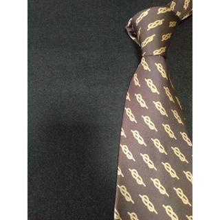 グッチ(Gucci)の【極美品】最高級ブランドGUCCI ネクタイ ブラウン 紐柄 高級シルク素材(ネクタイ)