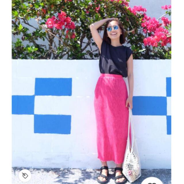 Ron Herman(ロンハーマン)のRonherman ロンハーマン プリーツスカート ピンク XS レディースのスカート(ロングスカート)の商品写真