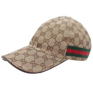 グッチ(Gucci)のグッチ GGキャンバス ベースボールキャップ ベージュ 40800070009(キャップ)