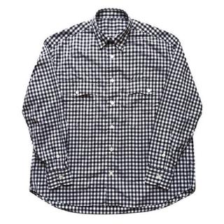 PORTER - Porter Classic ロールアップギンガムチェックシャツ ブラック