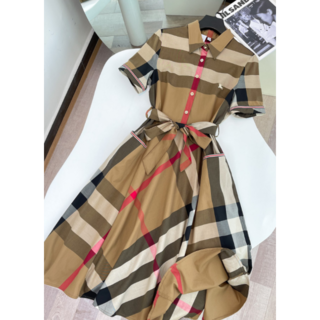 BURBERRY - Burberry☆チェックシャツ ロングワンピース ドレス☆M