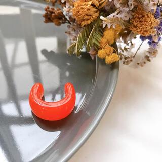カスタネ(Kastane)のSALE!half clear ring-orange-(リング(指輪))