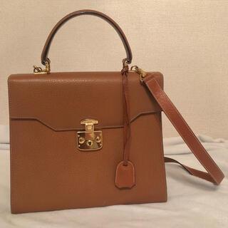 グッチ(Gucci)のGUCCI 超高級 美品 ヴィンテージ ハンドバッグ ショルダー付き 鍵つき(ハンドバッグ)