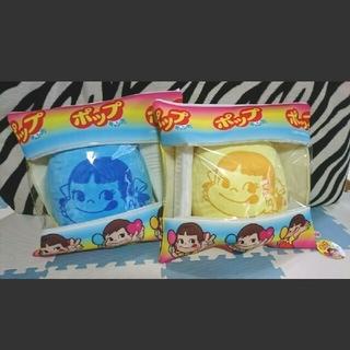 不二家 - ペコちゃん  ポップキャンディー BIGクッション(イエロー・ブルー)2点セット
