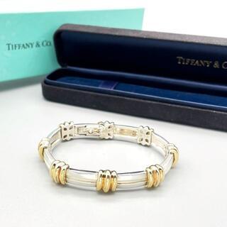 Tiffany & Co. - 極希少 美品 ティファニー ゴールド 3ライン スクエア ブレス XX22