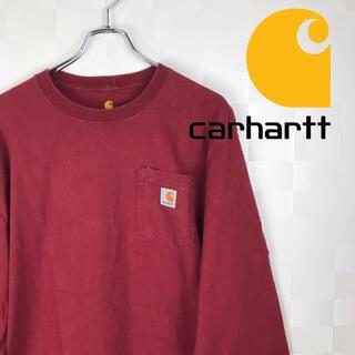 カーハート(carhartt)の希少 コットン100% カーハート  無地 ポケット ロンtee(Tシャツ/カットソー(七分/長袖))