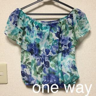 ワンウェイ(one*way)のone way♡花柄トップス(カットソー(半袖/袖なし))