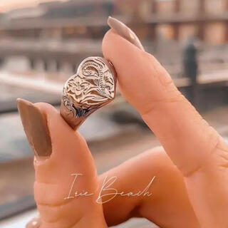 irie beach の round Heart ring ハートリング