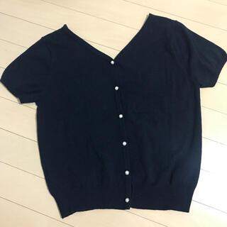 ミッシュマッシュ(MISCH MASCH)の半袖 リバーシブル お花 パール  トップス カットソー Tシャツ(Tシャツ(半袖/袖なし))
