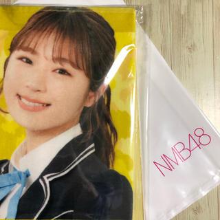 エヌエムビーフォーティーエイト(NMB48)のNMB48 渋谷凪咲さん マフラータオル 直執サイン色紙!(アイドルグッズ)