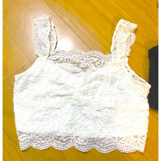 ジーユー(GU)のGU ビスチェ レース キャミソール ジーユー GU レディース 夏服(キャミソール)