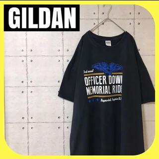 ギルタン(GILDAN)のGILDANギルダン•半袖Tシャツ•ブラック•プリント•3XL(Tシャツ/カットソー(半袖/袖なし))