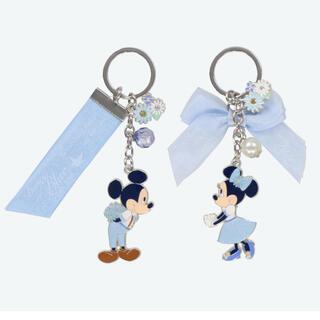 ディズニー(Disney)の新作♡ ブルーエバーアフター ミッキー ミニー キーチェーン(キーホルダー)
