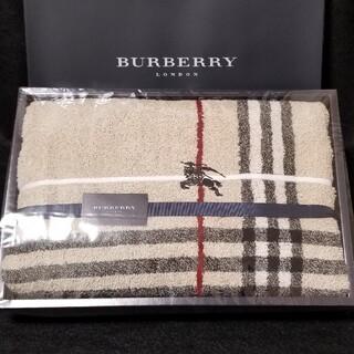 BURBERRY - BURBERRYバスタオル・(ライン)ノバチェック&,ホースマーク