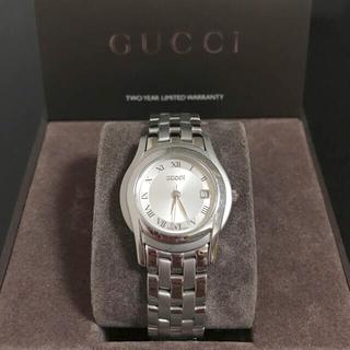 Gucci - GUCCI グッチ 5500L クォーツ レディース シルバー 腕時計 稼働品