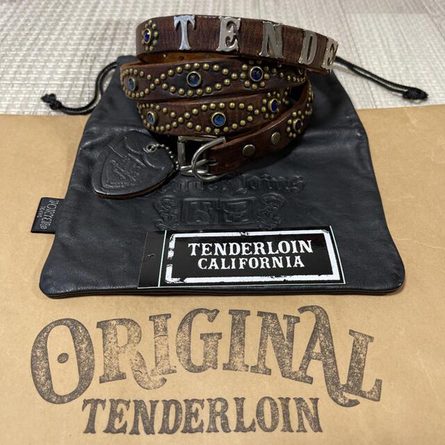 TENDERLOIN(テンダーロイン)の希少品! TENDERLOIN HTC PORTER ナロー ベルト 黒 青 M メンズのファッション小物(ベルト)の商品写真