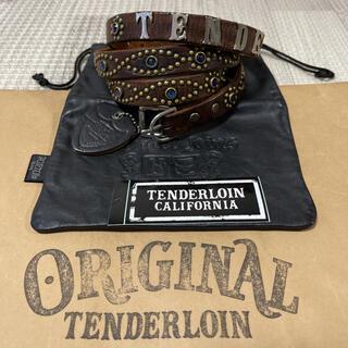 TENDERLOIN - 希少品! TENDERLOIN HTC PORTER ナロー ベルト 黒 青 M