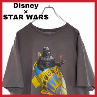 ディズニー(Disney)のHanes ディズニー×スターウォーズ ダースベイダーコラボTシャツ(Tシャツ/カットソー(半袖/袖なし))