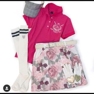 キスオンザグリーン スカート ゴルフ ピンク 花柄 kissonthegreen