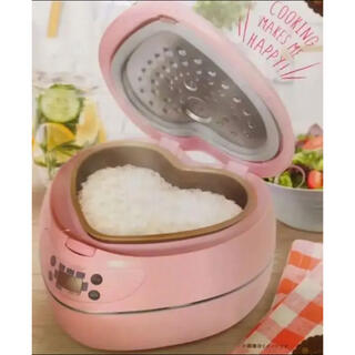 【新品 未開封 保証書付き】ハート型 炊飯器 ライスクッカー
