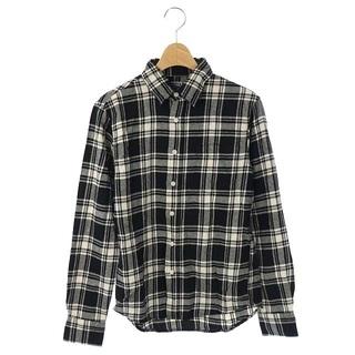 ドゥニーム(DENIME)のドゥニーム DENIME シャツ 長袖 チェック S 黒 白 /AO(シャツ)
