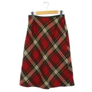 アナイ(ANAYI)のアナイ ANAYI スカート ロング タイト チェック 38 赤 緑 /AO(ロングスカート)