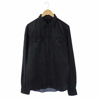 ディーゼル(DIESEL)のディーゼル DIESEL デニムシャツ 長袖 ボタンダウン 胸ポケット L 黒(シャツ)