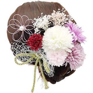 和風 和装 髪飾り 花 ドライフラワー 成人式髪飾り(ドライフラワー)
