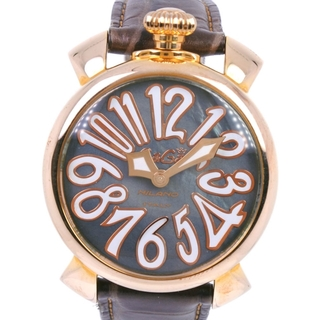 ガガミラノ(GaGa MILANO)のアナログ表示ガガ・ミラノ マニュアーレ40  ※ベルト別穴あり   GP レザ(腕時計)