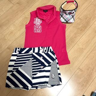 Callaway Golf - キャロウェイ ラップスカート風ショートパンツ  ホワイト×ネイビー Sサイズ
