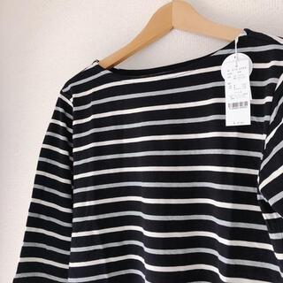 ブラックボーダー 7分袖 Tシャツ ボーダー (Tシャツ(長袖/七分))