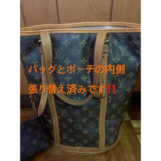 LOUIS VUITTON - ルイヴィトン モノグラム トートバッグ バッグとポーチの内側を張り替え済み